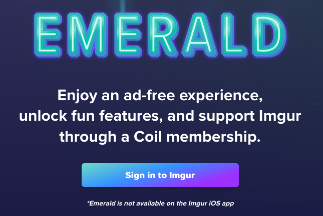 Get Coil button on Imgur