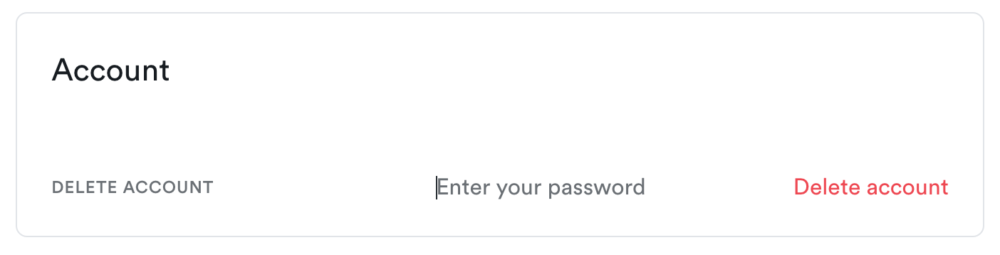 Enter your password field is active after being clicked